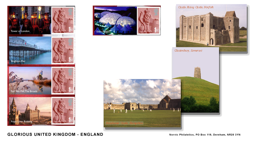 Norvic FDC for Glorious UK Smilers stamp sheet England.