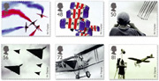 Set of 6 Air Displays Stamps.