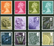 9p, 15p, 56p & 81p Machin definitives, 
