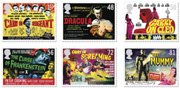 Set of 6 classic films stamps.