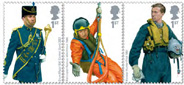 GB Royal Air Force Uniforms 1st class stamps; 81p stamps not shown.