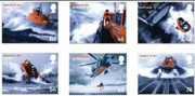 Rescue at Sea set of 6 stamps.