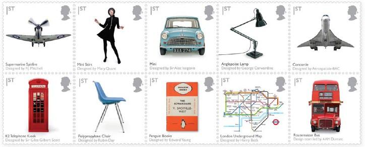 British Design Classics British Stamps 13 January 2009