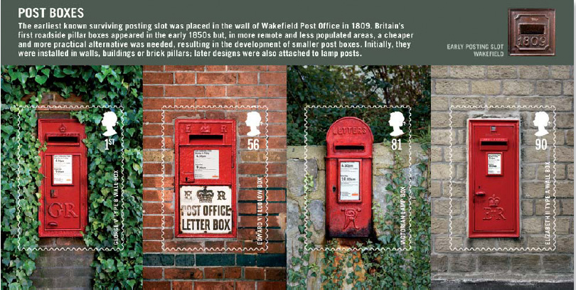 Postboxes Miniature Sheet Smilers Sheet Treasures Of The