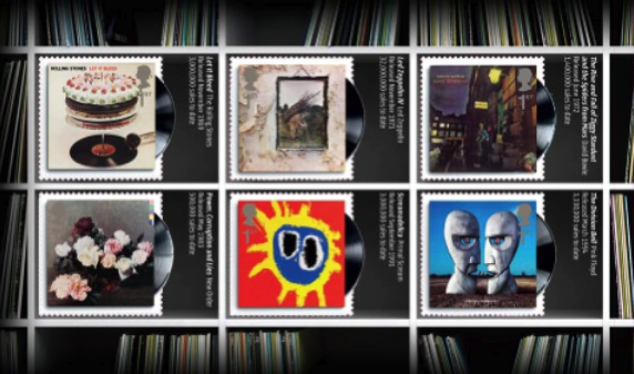 Classic Album Covers - British Design on stamps 7 January