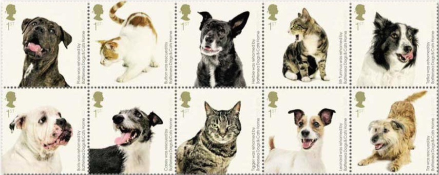 Battersea Dogs & Cats Home 150 Years - new GB stamps from Norvic ...