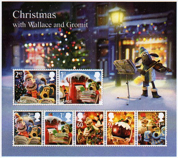 Christmas 2010 with Wallace and Gromit - stamps of Great Britain ...