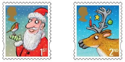 1st 2nd class christmas stamps 2012 - Christmas 2012
