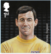 Gordon Banks footballers stamp.