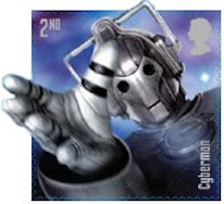 Cyberman stamp from Doctor Who set.