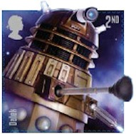 Dalek Doctor Who stamp.