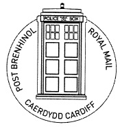 Postmark showing Dr Who Tardis - London Police Box.