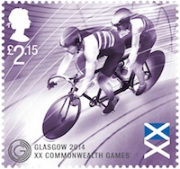 Commonwealth Games cycling  stamp.