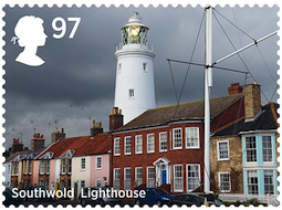 Stamp showing Southwold lighthouse.