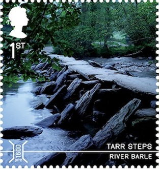 Tarr Steps Bridges Stamp.