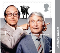 Morecambe and Wise stamp from Comedy Greats retail booklet.