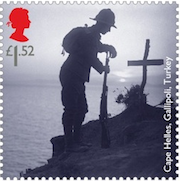 Gallipoli stamp for WWI Centenary.