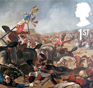 Detail from Battle of Waterloo stamp.
