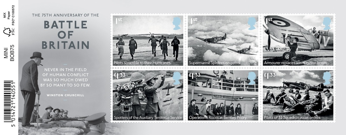 Battle of Britain Stamps Battle of Britain 75 Miniature