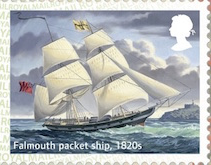 Falmouth Packet Post and Go Faststamp design.