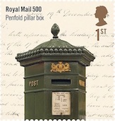 Penfold Postbox 1st class stamp.