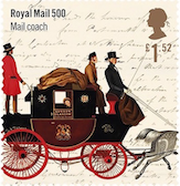 Royal Mail 500 Mailocach stamp.