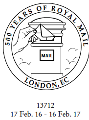 Postmark showing postbox.
