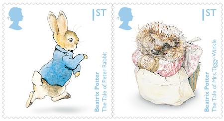 英国7月28日发行比阿特丽克斯・波特诞辰150周年邮票