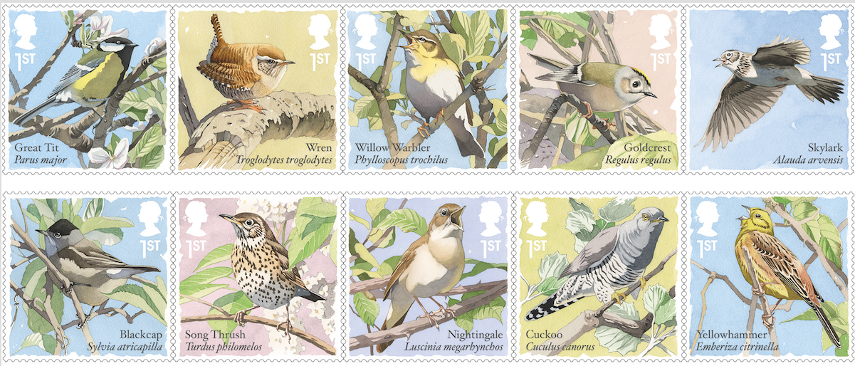 British Songbirds New Stamps 4 May 2017 Norvic