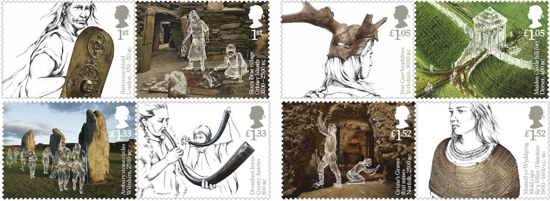 Ancient Britain British Stamp Issue 15 January 2017