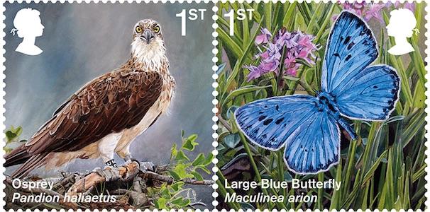 英国4月17日发行新引进的物种邮票
