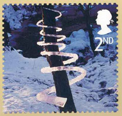Great Britain Stamps Ice Sculpture For Christmas 4 November 2003