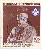 1982 Sheffield Scout Stamp showing BP