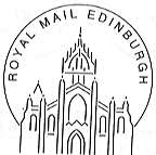 Permanent postmark showing Edinburgh St Giles Cathedral.