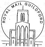 Postmark showing Guildford Cathedral.