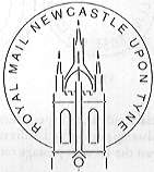 Postmark showing Newcastle Upon Tyne Cathedral.