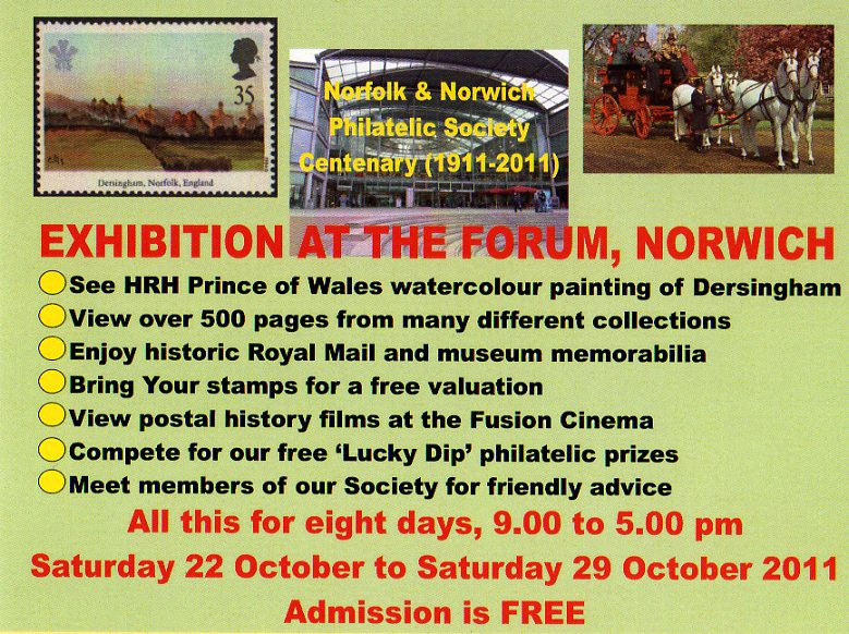 Norfolk & Norwich Philatelic Society Centenary programme.