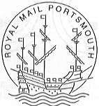 Portsmouth permanent postmark showing Mary Rose.