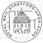 Postmark showing Swan Theatre Stratford-upon-Avon.