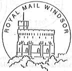 permanent Royal Mail Windsor postmark showing the castle.