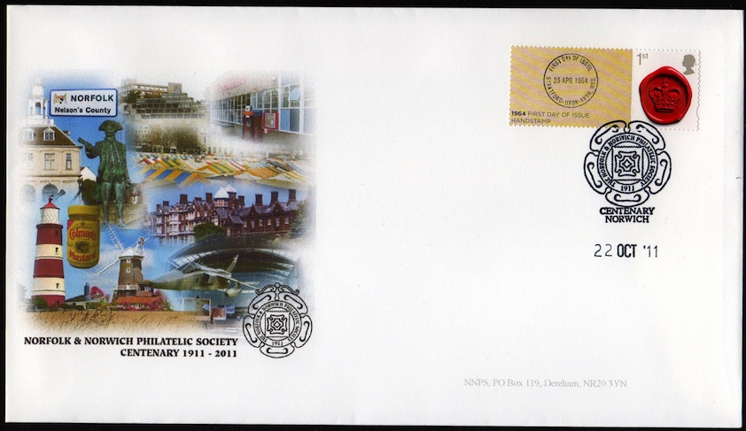 NNPS Centenary Commemorative Cover - 350th Ann of the postmark Smiler.