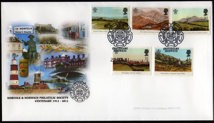NNPS Centenary Commemorative Cover - Prince of Wales Paintings set.