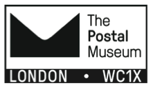 Postmark showing logo of the Postal Museum.