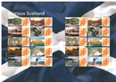 GB Glorious Scotland Smilers Sheet  			stamps image.