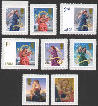 GB 2007 Christmas stamps image.